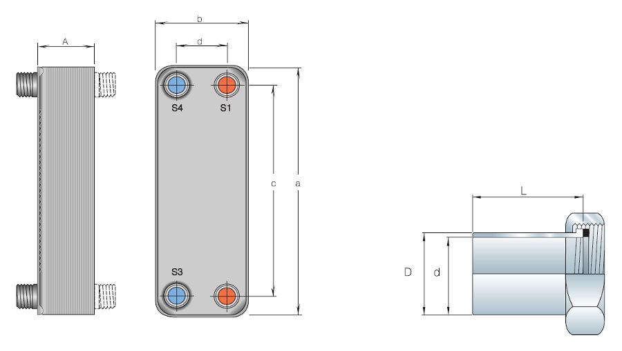 Охлаждающий водяной или фреоновый теплообменник купить теплообменник к wr350 1